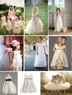 New Additions to our Wedding Idea Scrapbook: Flower Girls