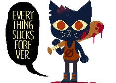 Mae (animated) by cutgut | gif | Night in the Woods | art