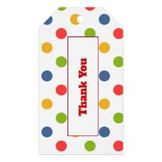 Polka dots gift tag - diy cyo personalize special unique