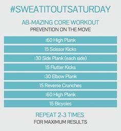 Ab and core workouts. #SweatItOutSaturday #SkinnyGeneLife