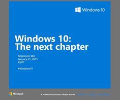 Περισσότερες πληροφορίες για τα Windows 10 στις 21 Ιανουαρίου