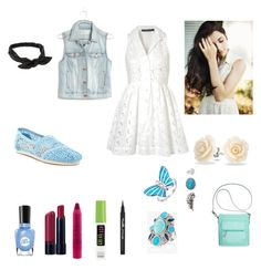 """Walking Around Outfit"" by cherryflame14 ❤ liked on Polyvore featuring Topshop, Madewell, TOMS, Sally Hansen, tarte, peripera, Maybelline, NLY Accessories, Bling Jewelry and Decree"