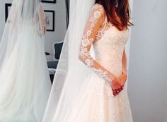 2014 long sleeve lace wedding dress /  lace por BeautifulLifeDress, $235.99