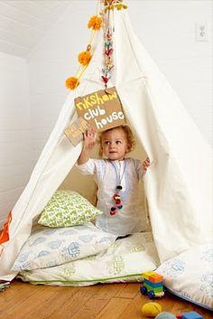 adorable tent! textiles by rikshaw design
