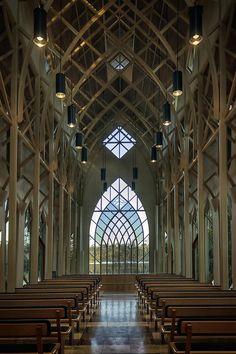 Interior Arched Window University Of Florida Chapel On Lake Alice ...