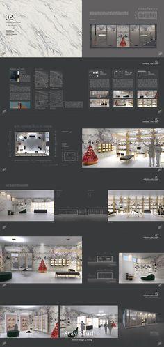[STAY STUDIO] Interior Design Portfolio | 인테리어 디자인 포트폴리오 | Multi shop 멀티 샵 #StayStudio Interior Design And Technology, Interior Design Sketches, Shop Interior Design, Retail Design, Studio Interior, Portfolio Design Layouts, Layout Design, Presentation Board Design, Interior Design Presentation