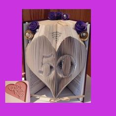 Book Folding Pattern  50 in a heart age can be by CraftyHana