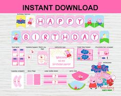 Peppa Pig Party Decoration Printable, Party Package, Peppa Pig Birthday Welcome Sign, Banner, Cupcake Toppers, INSTANT DOWNLOAD ⭐️ INSTANT DOWNLOAD ⭐️ • You get what you see Sold as is • File Type: High resolution 300ppi, JPG/PDF file (not-editable) • Files are ready for