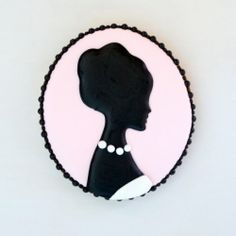 Silhouette or Cameo Cookie How-To: Gingerbread cookies decorated with royal icing.