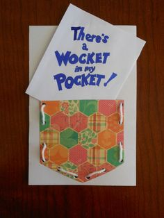 Dr. Seuss Reading activities for There's a Wocket in my Pocket