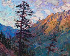 Oil painting of Washington mountain landscape by Erin Hanson