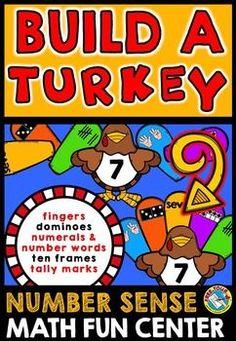#BUILD A #TURKEY: #NUMBER #SENSE #GAME! #THANKSGIVING #MATH #CENTER