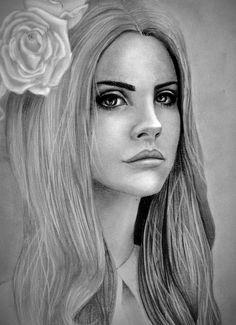 Lana Del Rey portrait by Ali-Sea