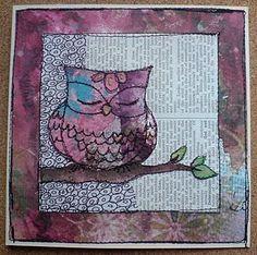 owl idea for card for Mom...