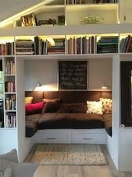 """What if we made the reading nook it's own """"mini room"""" with more privacy for quiet?"""