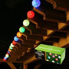 Solar Powered Garden Lantern String Lights (10 Piece)