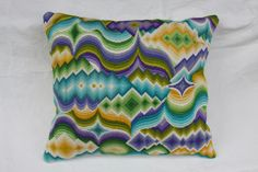 Bargello goes groovy! Bargello Patterns, Bargello Needlepoint, Bargello Quilts, Needlepoint Pillows, Embroidery Thread, Etsy Embroidery, Hand Stitching, Needlework, Sewing Projects