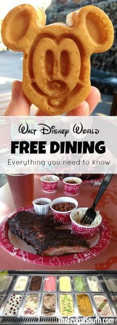 Everything you need to know about Free Dining at Disney World! How to book this popular package, plus tips and tricks for deciding if it is the best deal for your family.