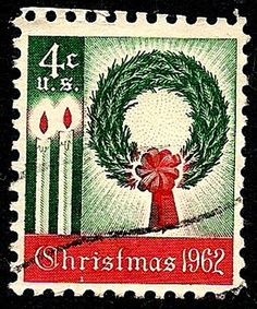 The first Christmas stamp issued by the United States in the year my first child, a daughter was born.
