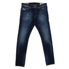 b4b52522 Diesel skinny carrot fit Tepphar Jeans in dark washed stretch denim with  abrasions.