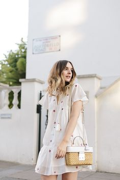 (Dress: C/O Tularosa via Revolve , Shoes: Next  (old but similar here  &  here ), Bag: Michael Kors )   The one thing there was a gap...