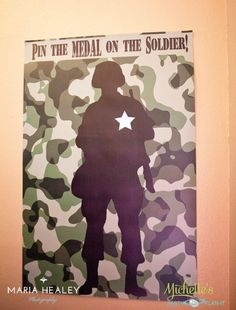 Army Party Ideas by Michelle's Party Plan-It - DIY party ideas, party favors, stationery, games, activities and more! Army Themed Birthday, Army Birthday Parties, Army's Birthday, Birthday Party Themes, Birthday Ideas, Birthday Weekend, Military Retirement Parties, Military Party, Army Party