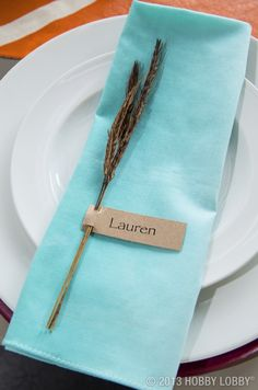 Add a modern twist to you table this Thanksgiving with a cool color tone.