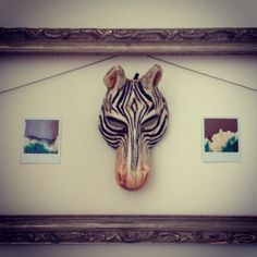 Use large accent frames to frame anything but photographs! Instagram photo by @xxellecreative #interiors #diy