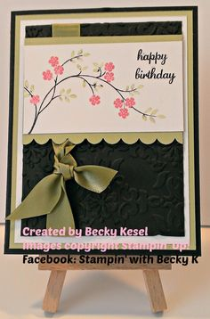 Happy Birthday with elegance : Becky's Blog Made by Becky Kesel www.facebook.com/Stamp.with.BeckyK.  #stampinupthoughts&prayers #stampinupexpressyourself