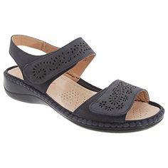 Boulevard Damen Sandale mit Klettverschluss (40 EUR) (Marineblau) - http://on-line-kaufen.de/boulevard-apparel-group/40-eu-boulevard-damen-sandale-mit-3