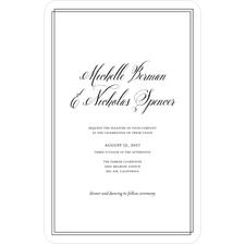 Pure Simplicity Wedding Cards