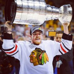 Andrew Shaw with the cup!