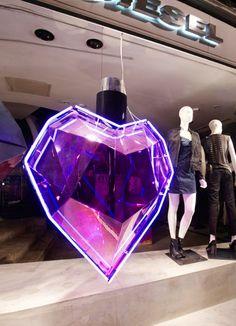 Prop Studios | Studio Xag: Pink Hearts for Diesel | Retail Window Display | Bespoke Prop Design & Manufacture | Visual Merchandising | Prop Hire | Themed Events | Events & Draping