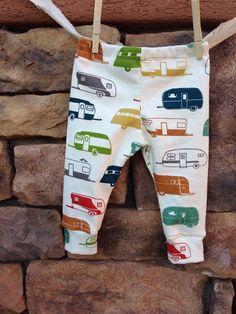 Happy Camper Baby leggings, infant leggings, organic cotton leggings, printed leggings on Etsy, $25.00