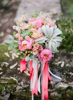 succulent wedding bouquet - photo by Lauren Fair Photography http://ruffledblog.com/riverdale-manor-wedding