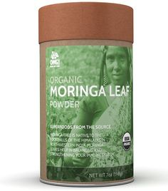 OMG! Superfoods Organic Moringa Powder - 100% Pure, USDA Certified Organic Moringa Leaf Powder – 7oz *** Click image for more details.