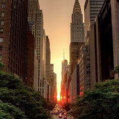 Закатный Нью-Йорк.