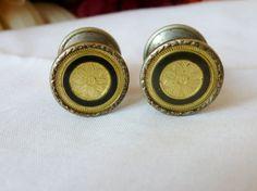 Vintage Enamel Cufflinks Snap Signed Cufflinks by vintagelady7, $45.50