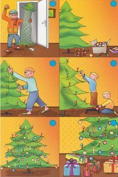 Afbeeldingsresultaat voor logische reeksen kerst Sequencing Pictures, Sequencing Cards, Story Sequencing, Sequencing Activities, Language Activities, Thema Winter Im Kindergarten, In Kindergarten, Christmas Activities For Kids, Preschool Christmas