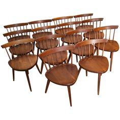 """George Nakashima """"Mira"""" chairs"""