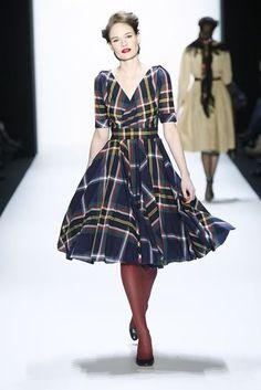 Lena Hoschek Fall 2010. Wish more designers made this length of dress:)