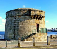 "dlr Heritage Events on Instagram: ""Dún Laoghaire-Rathdown County Council Heritage at Home revisiting Summer of Heritage featured today Seapoint Martello Tower. The Martello…"" I Icon, Dublin, Ireland, Tower, Events, Sea, Building, Summer, Travel"
