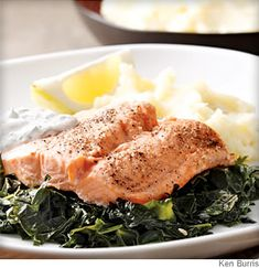 25d8bfe98ff8 Arctic Char on a Bed of Kale Kale Recipes