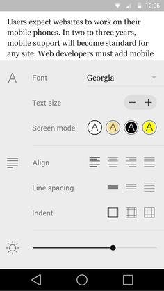 Fastr Books Reader Settings Material Design For Android by Alexander Bickov Material Design, Web Design, Flat Design, Android Design, Ui Patterns, Mobile Ui Design, Ui Inspiration, App Ui