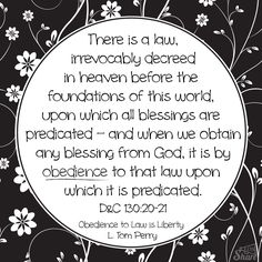 """Obedience to Law is Liberty"" by L. Tom Perry - April 2013 General Conference #ldsshare #lds #share"