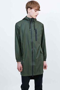 Rains Parka Jacket in Green