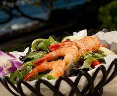 Shrimp Salad at the Turtle Bay Resort, Oahu.  #Shrimp #Seafood