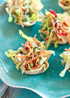 These wonton appetizers are cute and healthy.