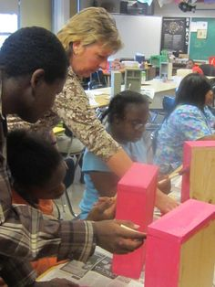 Northwest Secondary School, Adaptive Arts classes working with Habitat  for Humanity to create jewelry boxes, birdhouses and bird feeders.