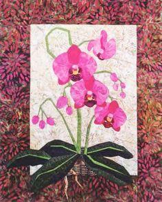 "Phalaenopsis - Foundation Paper Piecing Pattern - 20"""" x 25"""" Quilt -"